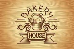 Ensemble des labels de boulangerie de vintage, des insignes et de la conception elements11 Photographie stock