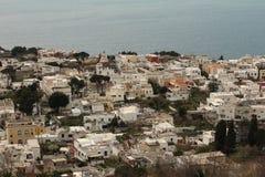 Ensemble des maisons dans Anacapri, Italie Images libres de droits