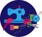 Ensemble des objets et du matériel du tailleur Photographie stock