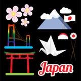 Ensemble des plus grands symboles du Japon Photo libre de droits