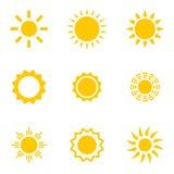 Ensemble des soleils Images stock