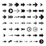 Ensemble différent d'icône de flèche, style simple illustration libre de droits