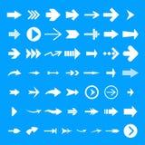 Ensemble différent d'icône de flèche, style simple illustration de vecteur