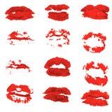 Ensemble différent d'icône de vecteur de lèvres du ` s de femmes d'isolement dans le fond illustration libre de droits