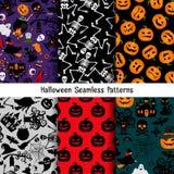 Ensemble différent de modèle de Halloween Image stock