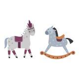 Ensemble différent de vecteur de race de chevaux Photos libres de droits