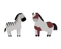Ensemble différent de vecteur de race de chevaux Images stock