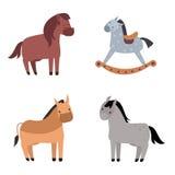 Ensemble différent de vecteur de race de chevaux Photo libre de droits