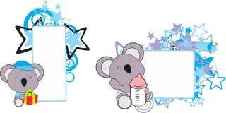 Ensemble doux de bande dessinée de koala de bébé Images stock