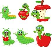 Ensemble drôle de collection de Caterpillar de bande dessinée illustration de vecteur