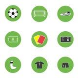 Ensemble du football du football de sport d'icône d'illustration illustration de vecteur