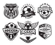 Ensemble du football Logo Design Templates, insigne de vintage du football illustration de vecteur