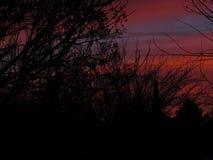 Ensemble du soleil de silhouette photo libre de droits