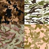 Ensemble du vecteur sans couture de modèle du camouflage 4, ENV 10 Images stock