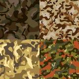 Ensemble du vecteur sans couture de modèle du camouflage 4, ENV 10 Photo libre de droits