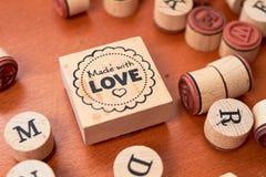 Ensemble en bois de timbre de Scrapbooking Image stock