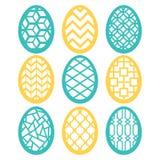 Ensemble en filigrane de décoration d'oeufs de pâques illustration stock