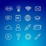 Ensemble en ligne d'icône d'éducation illustration de vecteur