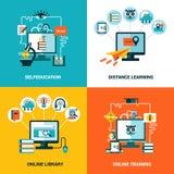Ensemble en ligne de concept de construction d'éducation Photo libre de droits