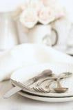 Ensemble en pastel de vaisselle Photographie stock