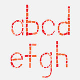 Ensemble en verre d'alphabet latin de mosaïque. Photos stock