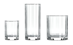 Ensemble en verre de Tableau Photographie stock