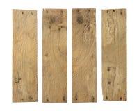 Ensemble endommag? superficiel par les agents par planche en bois photos stock