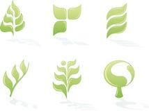 Ensemble environnemental de logos illustration libre de droits