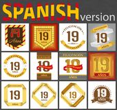 Ensemble espagnol de calibres du num?ro 19 illustration libre de droits