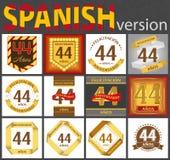 Ensemble espagnol de calibres du num?ro 44 illustration stock