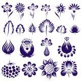 Ensemble ethnique de fleur de vecteur Illustration de Vecteur