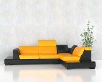 Ensemble faisant le coin jaune de meubles photos stock