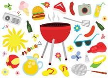 Ensemble final de pique-nique de barbecue Photographie stock