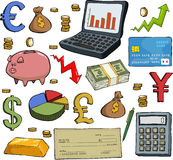Ensemble financier illustration stock