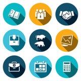 Ensemble financier d'icône d'échange illustration de vecteur