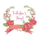 Ensemble, flèches, coeurs, laurier, guirlandes, rubans et labels de graphique de mariage illustration libre de droits