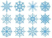 Ensemble flocons de neige de tous neufs Illustration Libre de Droits