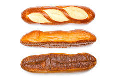 Ensemble français de baguette d'isolement Images stock