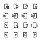 Ensemble futé d'icône de communication de téléphone, vecteur eps10 Photographie stock