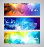Ensemble géométrique de fond de bannière de triangles de vecteur Images stock