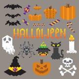 Ensemble géométrique de Halloween Photo stock