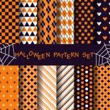 Ensemble géométrique de modèle, concept de Halloween Image libre de droits