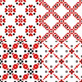 Ensemble géométrique folklorique de modèle illustration de vecteur