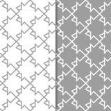 Ensemble géométrique gris et blanc de modèles sans couture Photographie stock libre de droits