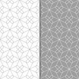 Ensemble géométrique gris et blanc de modèles sans couture Image stock