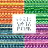 Ensemble géométrique sans couture de texture illustration stock