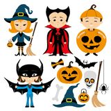Ensemble gai de Halloween illustration libre de droits