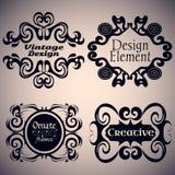 Ensemble gothique de cadre Éléments calligraphiques de conception Illustration de Vecteur
