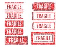 Ensemble grunge de style de tampons en caoutchouc fragiles de Word Photographie stock libre de droits
