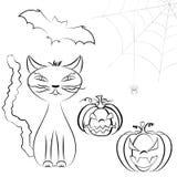 Ensemble Halloween de schéma Photographie stock